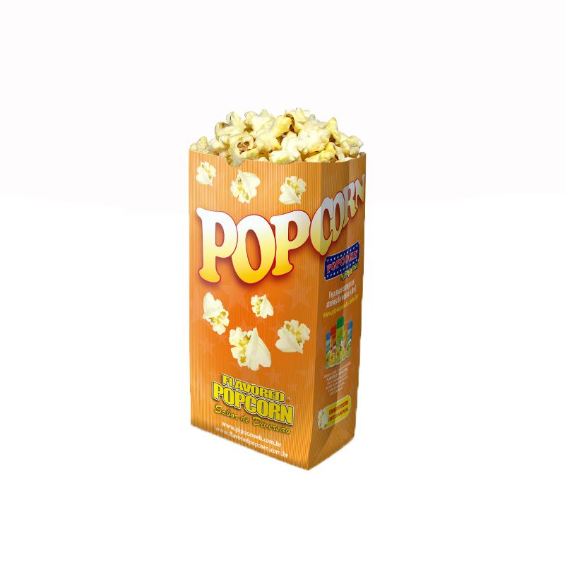 Embalagens Sacos p/ pipoca - (Pequeno) - Pacote c/ 25 unidades - JUNIOR