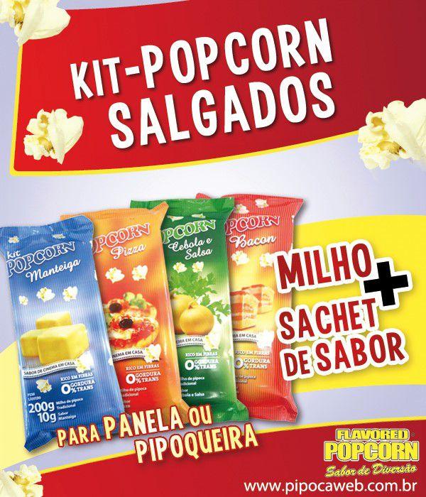 Mix Milho de Pipoca + Cebola e Salsa + Óleo Vegetal - sabor Manteiga p/ Pipoqueira