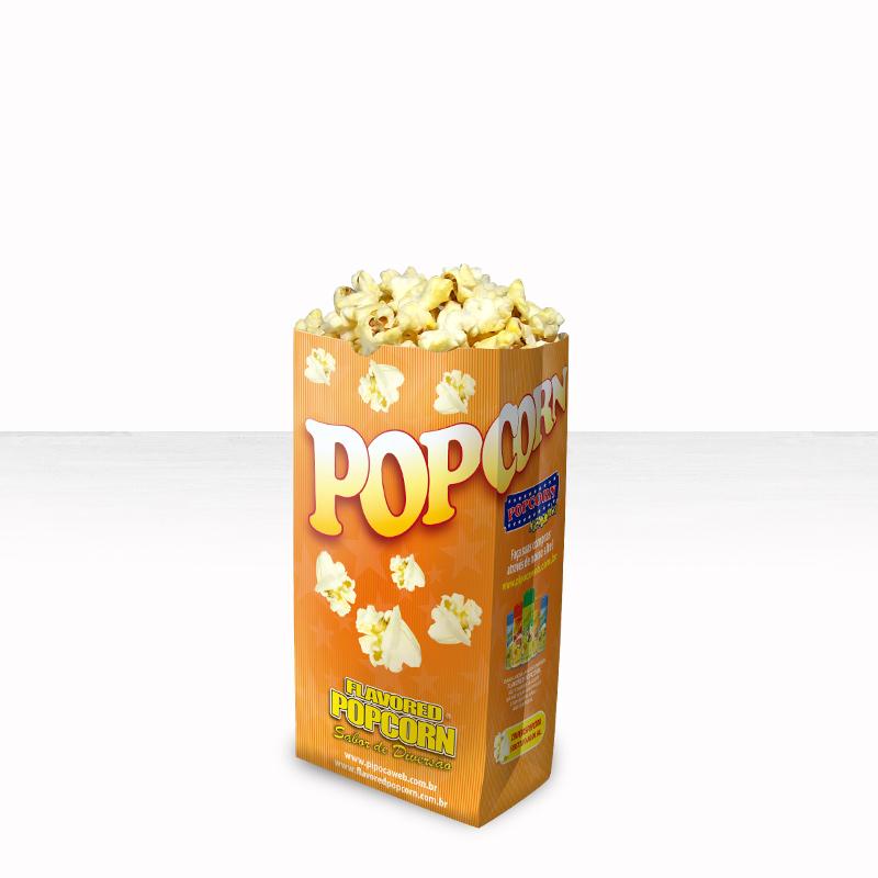 Sacos p/ pipoca - (Pequeno) - Pacote c/ 25 unidades