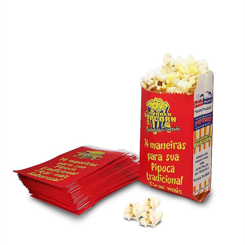 Saquinhos Popcorn MINI (Degustação) - Pacote c/ 25 unidades