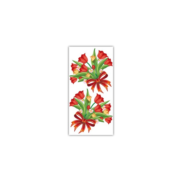 Sacos Presente 15x30 - Rosa Vermelha c/ 100 unidades  - Emar - Loja Virtual