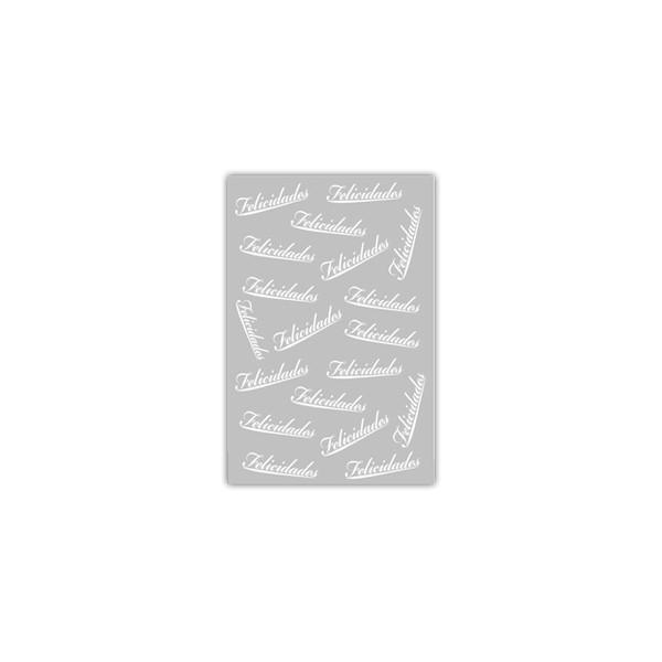 Sacos Presente 20x30 Metalizado - Felicidades Branco c/ 100 unidades  - Emar - Loja Virtual