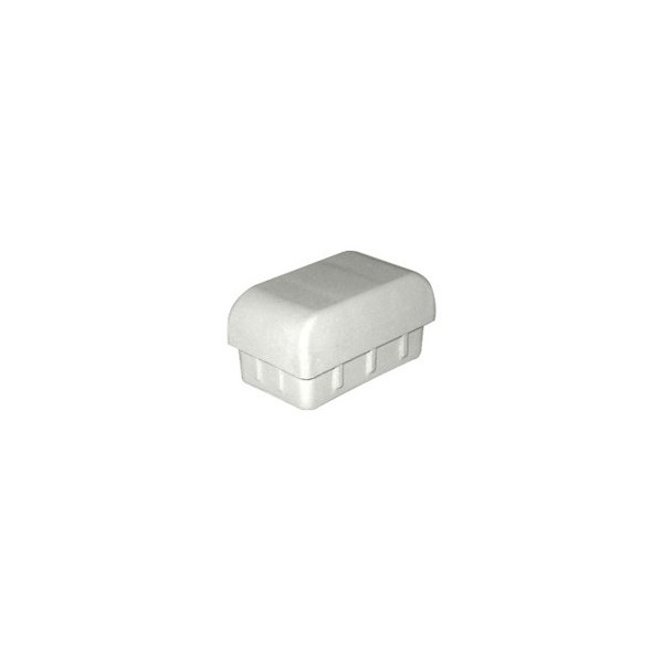 Ponteira 50 x 30 mm Interna Abaulada Cinza Cristal c/ 250 unidades  - Emar - Loja Virtual