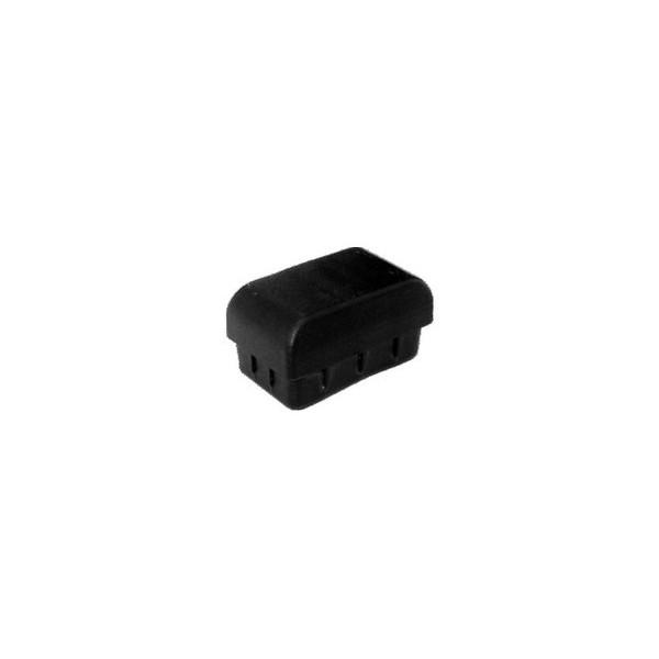 Ponteira 50 x 30 mm Interna Abaulada Preta c/ 250 unidades  - Emar - Loja Virtual