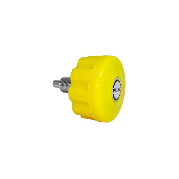 Puxador c/ Trava 8 x 16 mm PTT - Amarelo  - Emar - Loja Virtual