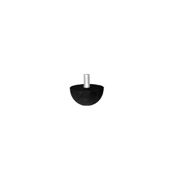 "Batente c/ Rosca 3/8"" Redondo Pequeno Preto  - Emar - Loja Virtual"