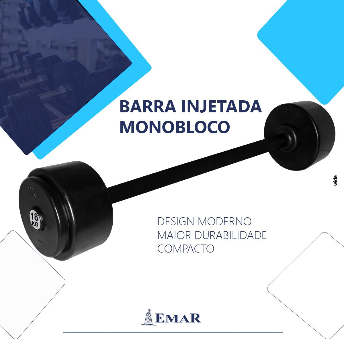Barra Injetada Monobloco - Pegada de 700 mm  - Loja Virtual do Grupo Emar