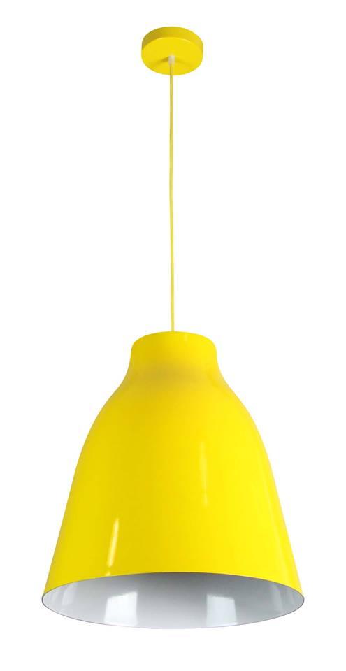 Pendente Duale 40cm de Diâmetro. Amarelo