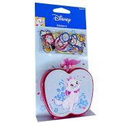 100 Mini Adesivos + Porta Adesivos Marie Disney