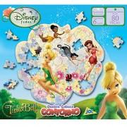 Quebra Cabeça de 80 Peças Contorno Tinker Bell Fadas Disney - Toyster
