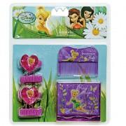 Kit de Beleza com Espelho Pente e Chuquinhas Tinker Bell Fadas Disney