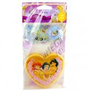 100 Adesivos + Porta Adesivos Princesas Douradas Disney