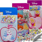 300 Adesivos Princesas Aurora Sereia Ariel E Gatinha Marie