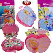 300 Mini Adesivos Mais Porta Adesivos Cinderela Bela E Ariel Princesas Disney