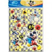Cartela com 22 Adesivos de Plástico Alto Relevo Mickey Disney