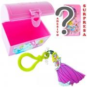 Mini Baú Princesas com Adesivo e Chaveiro Aurora Bela Adormecida Princesas Disney