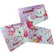 3 Quebra Cabeças Cartonados Gata Marie Disney 189 Peças