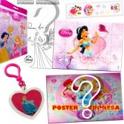 Sacolinha Divertida com Chaveiro Jasmine Princesas Disney