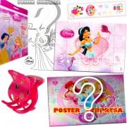 Sacolinha Divertida com Piranha de Cabelo Jasmine Princesas Disney