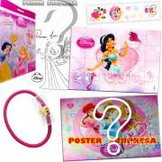 Sacolinha Divertida com Elástico de Cabelo Jasmine Princesas Disney