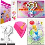 Sacolinha Divertida  Cinderela com Pente Princesas Disney