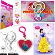 Sacolinha Divertida com Chaveiro Branca de Neve Princesas Disney