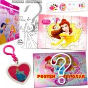 Sacolinha Divertida com Chaveiro Bela Princesas Disney