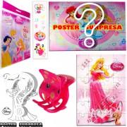 Sacolinha Divertida Aurora com Piranha de Cabelo Princesas Disney