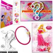 Sacolinha Divertida com Elástico de Cabelo Aurora Princesas Disney
