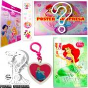 Sacolinha Divertida  Sereia Ariel com Chaveiro Princesas Disney