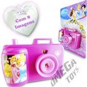 Camera Projetora de Imagens Coloridas Princesas Disney