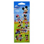 Cartela de Adesivos Mickey e Minnie Disney