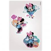 Kit Com 10 Cartelas de Adesivos de Parede Noturno Minnie Disney - Gedex