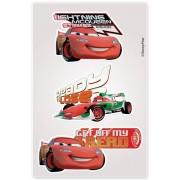 Kit Com 10 Cartelas de Adesivos de Parede Noturno Carros Disney - Gedex