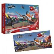 Quebra Cabeça Panorâmico de 250 Peças Aviões Disney - Toyster