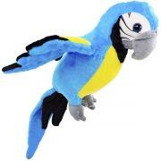 Arara Azul de Pelúcia Grande de 32 cm Aves do Brasil