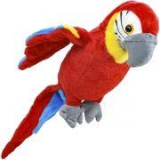 Arara Vermelha de Pelúcia Grande de 32 cm Aves do Brasil