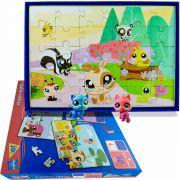 Bichinhos Littlelest Pet Shop Com 4 Quebra Cabeças Hasbro
