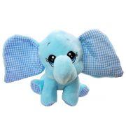 Bicho de Pelúcia Elefante Baby Azul Macio Fizzy