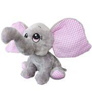 Bicho de Pelúcia Elefante Baby Cinza Macio Fizzy