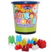 Blocos de Montar Crie e Monte com 44 Peças - Mini Toys