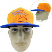 Boné Aba Reta Importado Baytown All-Star Snapback Black Tiger