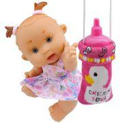 Boneca Bebê Dodói com acessórios Médicos Bolsinha Mamadeira Mágica