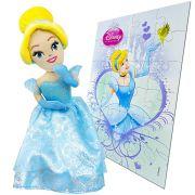 Boneca De Pelúcia Cinderela Princesas Disney + Quebra-cabeça