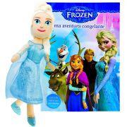 Boneca De Pelúcia Frozen Elsa + Livro De Atividades Disney