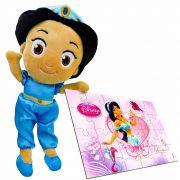 Boneca De Pelúcia Jasmine Princesa Disney Mais Quebra-cabeça
