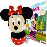 Boneca De Pelúcia Minnie Baby e Revista para Colorir Disney