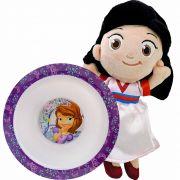 Boneca De Pelúcia Mulan Disney Mais Tigela Princesinha Sofia