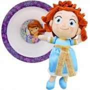 Boneca De Pelúcia Princesa Merida Valente Mais Tigela Disney