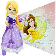Boneca De Pelúcia Rapunzel Enrolados Mais Quebra Cabeça Bela